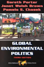 Cover of: Global environmental politics