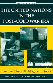 Cover of: The United Nations in the post-cold war era