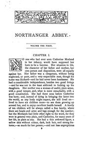 Cover of: Northanger Abbey: A Novel