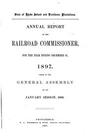 Cover of: Report by Rhode Island , Railroad Commissioners, Rhode Island Railroad Commissioner