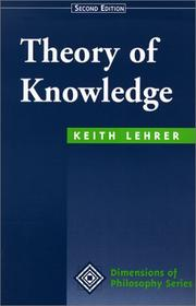 Cover of: Theory of knowledge by Lehrer, Keith.