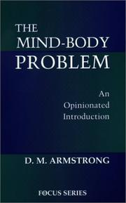 Cover of: The Mind-Body Problem | D., M. Armstrong