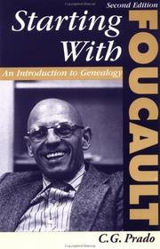 Cover of: Starting With Foucault | C. G. Prado