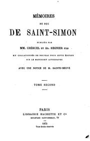 Cover of: Mémoires du duc de Saint-Simon