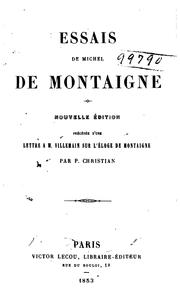 Cover of: Essais de Michel de Montaigne