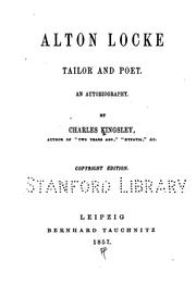 Cover of: Alton Locke, Tailor and Poet: An Autobiography