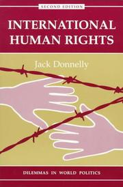 Cover of: International human rights | Jack Donnelly