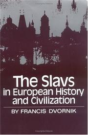 Cover of: The Slavs in European history and civilization