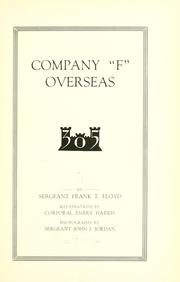 "Cover of: Company ""F"" overseas"