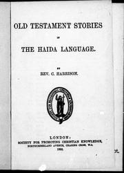Cover of: Old Testament stories in the Haida language |