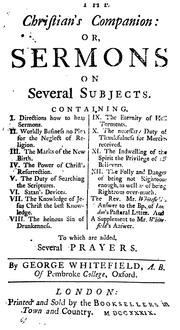 Cover of: The Christian's companion: or, Sermons on several subjects