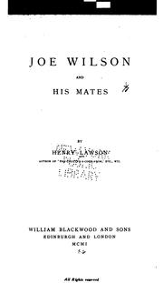 Cover of: Joe Wilson and His Mates