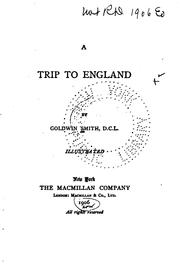 Cover of: A Trip to England