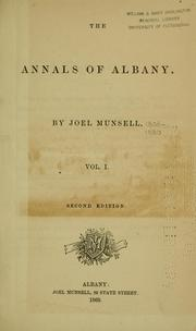 Cover of: The annals of Albany