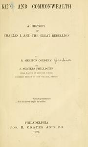 Cover of: King and commonwealth