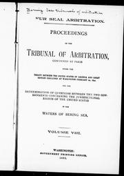 Cover of: Proceedings of the Tribunal of Arbitration |