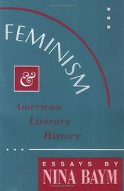 Cover of: Feminism and American literary history