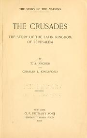 Cover of: crusades | Thomas Andrew Archer