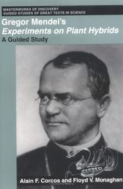 Cover of: Gregor Mendel's Experiments on plant hybrids