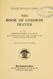 Cover of: The book of common prayer | Samuel Hart