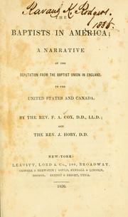 Cover of: The Baptists in America