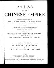 Cover of: Atlas of the Chinese empire