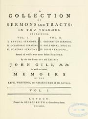 Cover of: A collection of sermons and tracts
