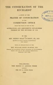 The consecration of the eucharist