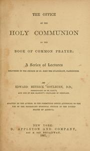 Cover of: The office of the Holy Communion in the Book of common prayer
