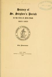 Cover of: History of St. Stephen