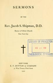 Cover of: Sermons | Jacob S. Shipman