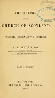 Cover of: Reform of the church of Scotland