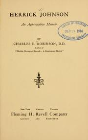 Cover of: Herrick Johnson by Charles Edward Robinson