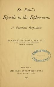 Cover of: St. Paul's Epistle to the Ephesians