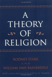Cover of: A theory of religion