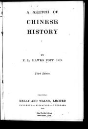 A sketch of Chinese history by F. L. Hawks Pott
