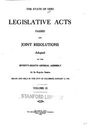 Cover of: Acts of the State of Ohio | Ohio, Ohio. General Assembly, Ohio Secretary of State