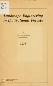 Cover of: Landscape engineering in the national forests