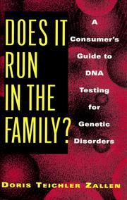 Cover of: Does it run in the family?