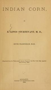 Cover of: Indian corn | E. Lewis Sturtevant
