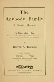 Cover of: anybody family ... | Hester A. Hopkins