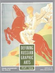 Cover of: Defining Russian graphic arts |