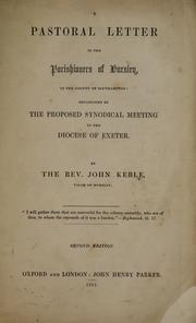 Cover of: A pastoral letter to the parishioners of Hursley, in the county of Southampton