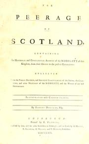 Cover of: The peerage of Scotland | Douglas, Robert Sir, bart.