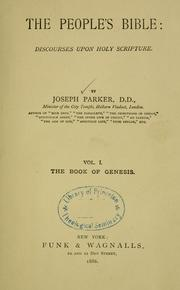 The people's Bible by Parker, Joseph