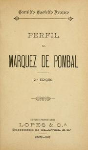 Cover of: Perfil do marquez de Pombal