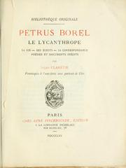 Cover of: Petrus Borel le lycanthrope