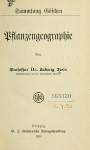 Cover of: Pflanzengeographie