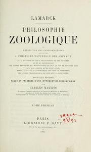 Cover of: Philosophie zoologique by Jean Baptiste Pierre Antoine de Monet de Lamarck