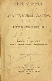 Cover of: Phil Vernon and his school-masters